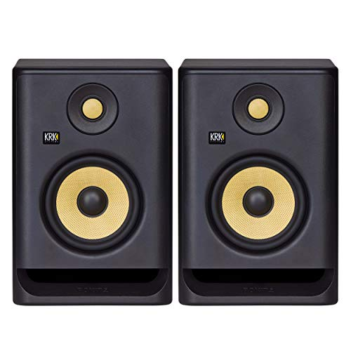 KRK RP5 Rokit 5 G4 Professional Bi-Amp 5' Powered Studio Monitor Pair, Black