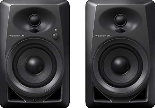 Pioneer DJ Studio Monitor, RCA, Mini-Jack, Black (DM40)