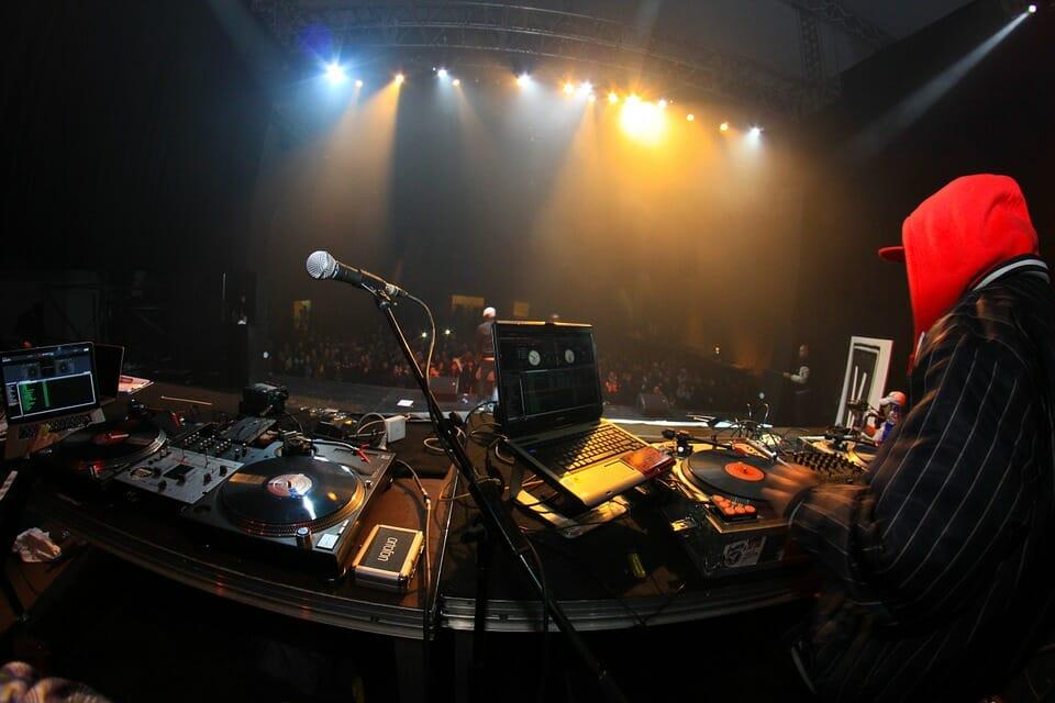 Performing DJ