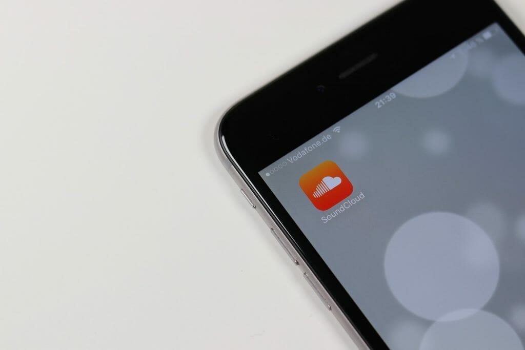 SoundCloud app on iPhone