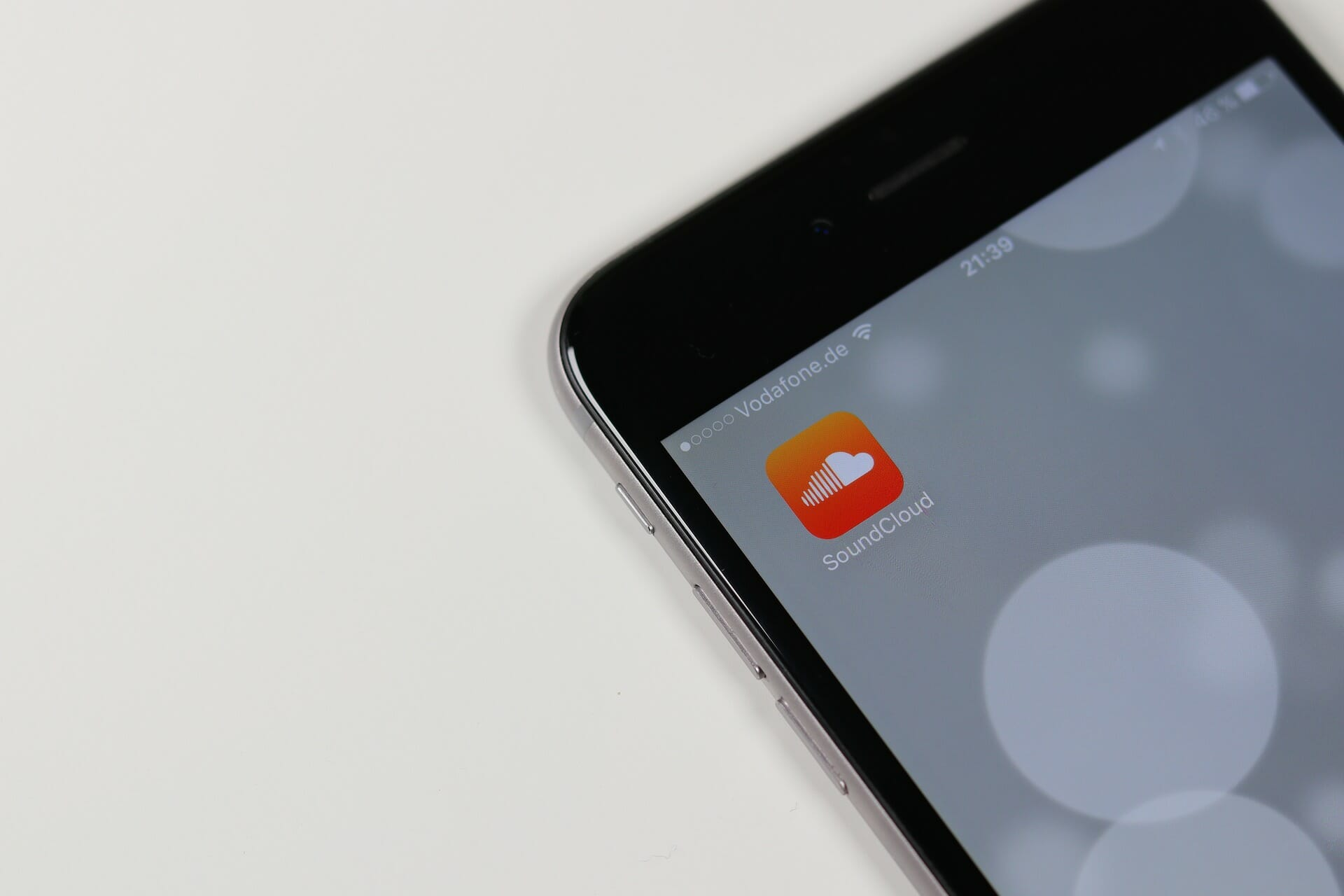 SoundCloud app on iPhone